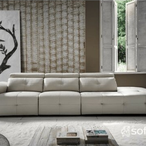 sofa en piel con chaise longue zahara