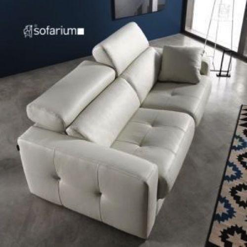 sofas cama en piel y tela