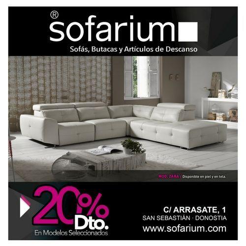 Ven a Sofarium y encontrarás una gran variedad de sofás en piel y en tela hasta un 2o% de descuento. Ven a descubrir todas nuestras novedades y ofertas.