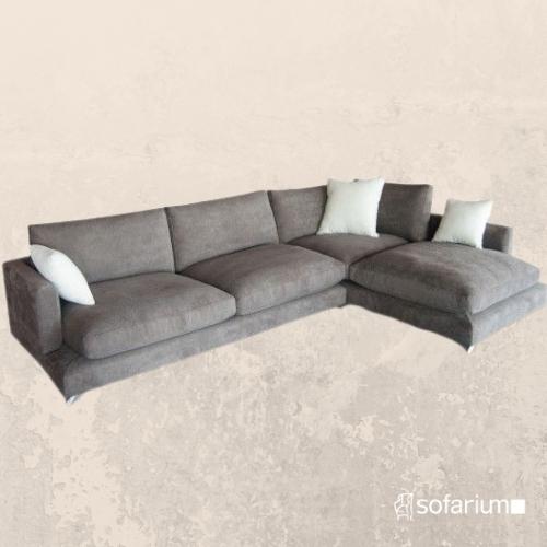 sofa de plumon y tela