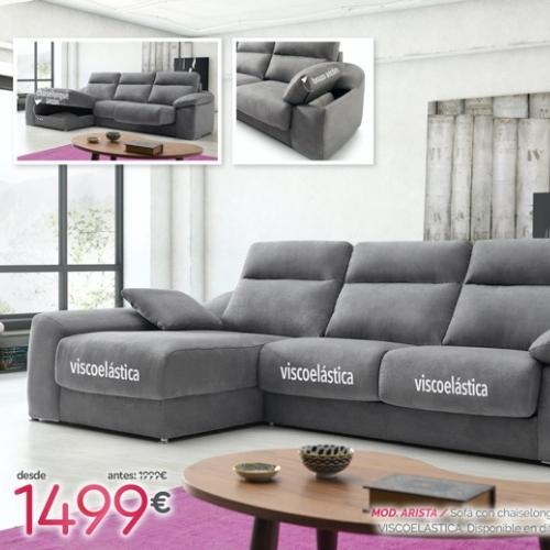 sofa con chaise longue arista