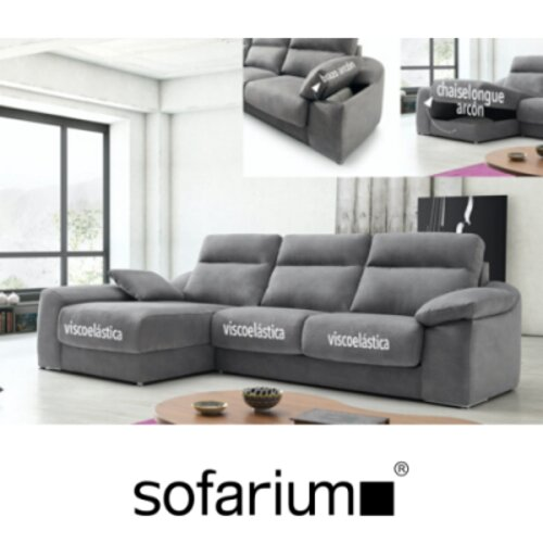 sofa con chaiselongue y arcon